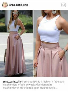 Plated high waisted skirts Love the style of this skirt. (NOT the top :-)) Fashion dresses, clothings, looks★ different top for the office Dream must haves Fashion Pants, Hijab Fashion, Fashion Dresses, Classy Outfits, Chic Outfits, Skirt Outfits, Dress Skirt, Prom Dress, Vetement Fashion