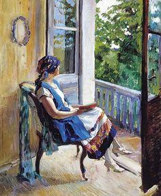 Women Reading - books0977: Summer Dreams (1915).Sergei...