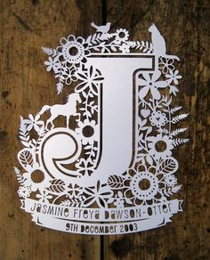 Samantha's Papercuts: New Papercut Designs