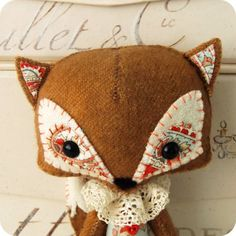 Woodland Fox PDF Pattern -- if I decide I actually wanna learn to use that sewing machine I bought.