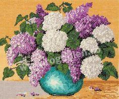 Cod produs 7.11 Ikebana cu liliac Culori: 18 Dimensiune: 15 x 19cm Pret: 35.71 lei