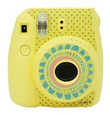 Online Shop Fujifilm Instax Mini 8 Crystal Camera Sticker Decorative Sticker Dotted Sunny Flower Yellow Stickers Free Shipping|Aliexpress Mobile