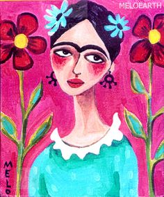 I have this print by Meloearth  Beautiful representation of Frida