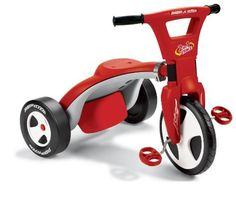 Radio Flyer 2 in 1 Trike by Radio Flyer. $55.99. Patented quick release twist 'n lock mechanism for easy transformation. Adjustable 3 position seat back, which allows your child to grow with the trike and maximum comfort. For ages 4-7 years - Chopper mode. For ages 2 to 4 years - Trike mode. Two Trikes in One - twists from trike to chopper. From the Manufacturer                Never has a tricycle been so versatile. It is a traditional trike, or with a simple flip,...