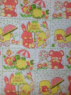 Vintage+Baby+Shower+Gift+Wrap/Wrapping+Paper+by+BirchTreeLane,+$4.00