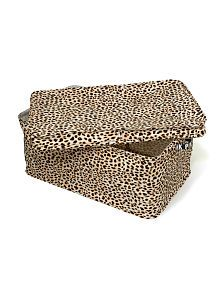 Big enough to hide away all of your stuff, cute enough to leave out in the open!