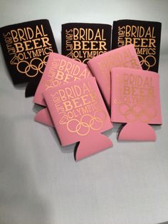 Adorable Bridal Beer Olympics Koozies https://www.etsy.com/listing/250895676/bridal-beer-olympics-beverage-holder