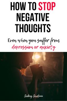 If you want to stop negative thinking and change your mindset and mental health for the better, here are 8 positive thinking tips to stop those negative thoughts and help replace them with positive ones in an actionable, realistic way. #selfimprovement #positivethinking