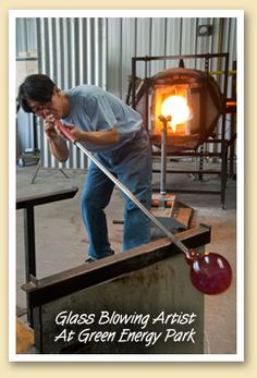 Glass Blowing Artist at Green Energy Park