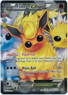 Flareon EX RC28/RC32 Pokemon TCG: Generations Radiant Collection, Full Art Holo Pokemon Card