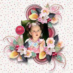 *Happy Days* Bundle with Bonus by Lara´s Digi World photo Adina Voicu use with permission World Photo, Beautiful Love, Happy Day, Floral Wreath, Birthday, Scrapbooking, Gallery, Shop, Floral Crown