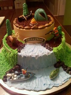 Field and Stream Birhtday Cake  JYJ Creations and More  Odessa, Tx.