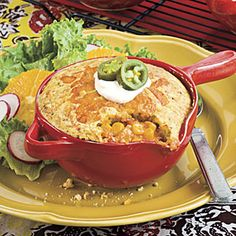 Chicken-and-Corn Pies With Cornbread Crust | MyRecipes.com