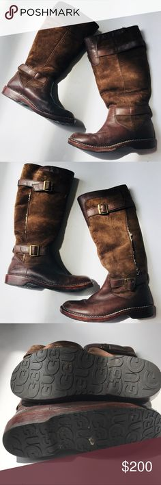Ugg Coziest Boots Ever Size 8 Shearling lined gently used UGG Shoes Combat  & Moto Boots