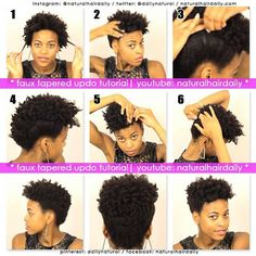How to do a tapered fro, YouTube