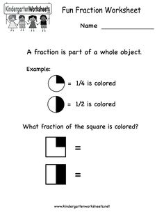 math worksheet : kindergarten fraction worksheet activities printable  stuff for  : Fractions Worksheets Online