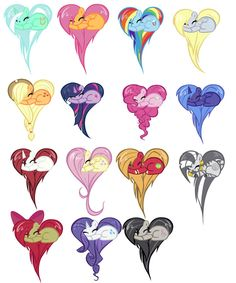 MLP FIM Hearts... Fausticorn is one of them!!! :D