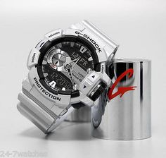 NEW Casio G-Shock GBA400-8B Silver Bluetooth Rotary Switch G Mix Watch