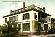 The Newcomb College Pottery building in New Orleans