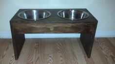 Large Raised dog bowl pet feeders cat bowls by GlobalPetProducts, $40.00