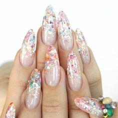 Crushed Shell Nails by nailpopllc ♥ Follow the Artist: https://www.instagram.com/nailpopllc