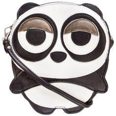 Sleepyville Panda Body Vinyl Cross Body Shoulder Bag