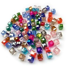 Buy Top Quality Mix Beads AAAAA Square Shape Upscale Austrian Crystal Beads Loose Quadrate Glass Ball Supply at Geek - Smarter Shopping Crystal Beads, Crystals, Diy Cans, Embroidery Materials, Glass Supplies, Swarovski, Cheap Beads, Square, Glass Ball