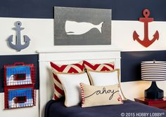 Ahoy, matey! Your favorite little sailor will love anchoring down in this nautical-inspired room.