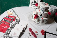 The Wedding cake set up in Seth's cellar at the Bullock. Our red, white, and black / suite of cards / poker chips / Dice / Lucky in Love / reception theme. We made that cake ourselves! Lucky In Love, Poker Chips, Cake Table, Special Day, Wedding Cakes, Reception, Sd, Wedding Stuff, Party Ideas
