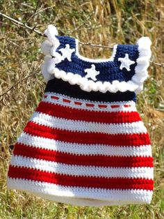 Hey, I found this really awesome Etsy listing at https://www.etsy.com/listing/184745076/patriotic-crocheted-dress-for-a-baby