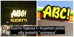 Ammattitauti kun silmä jotenki ottaa näihin kiinni. #abckuortti #abcasema #logo #pikkufiba