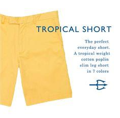 Our new Tropical Short in 7 colors, more details at StrongBoalt.com #menswear #beachwear #resortwear #mensstyle #classic #springsummer #shorts #cottonpoplin #lightweight #slimleg #color #strongboalt instagram.com/strongboalt