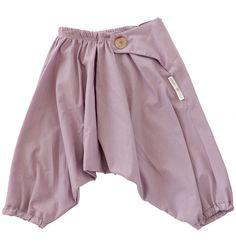 100% Cotton Japanese Baby Samurai Pants - Mushroom
