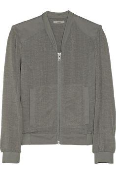 Helmut Lang|HELMUT Helmut Lang Breeze crinkled-gauze bomber jacket|NET-A-PORTER.COM