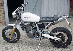 A Custom Suzuki DR 800 S Big motorcycle by Volker Schmidt.