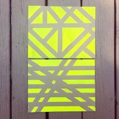 Masking tape paintings