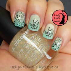 Lady Maid Nails - stamping gradient