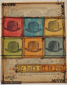 Stamps - Artistic Outpost Hat's Off, Hats Background