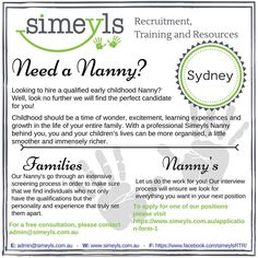 Visit www.simeyls.com.au. We take the time to find the right Nanny best suited to you and your family! #simeyls #recruitment #family #parents #parenting #parenthood #nannylife #nanny #mum #dad #educator #education #bestoftheday #father #mother #smile #children #sydney #australia #familytime