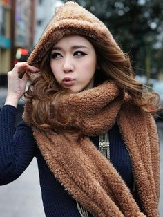 Neckerchief Glove/Hat - Brown