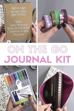 6 Essentials to Include in a DIY Travelers Journal Kit - Create your own DIY Travelers Journal Kit with these essentials! You'll have the best journal supplies and be prepared for when creativity strikes where ever you are! Journal Prompts, Junk Journal, Journal Ideas, Carpe Diem, Kyoto, Cities, Winter Travel Outfit, Travel Kits, Travel Hacks
