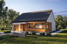 Projekt domu Murator C365i Przejrzysty - wariant IX Ideas Para, Building A House, House Plans, Sweet Home, Outdoor Structures, Cabin, House Styles, Outdoor Decor, Home Decor