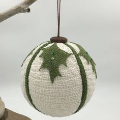 Fabric ornament,Christmas ornament, up-cycled recycled decor up-cycled by WobblyWelliesStudio on Etsy