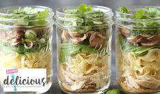 Mushroom and Bok Choy Mason Jar Soup with No Yolks®
