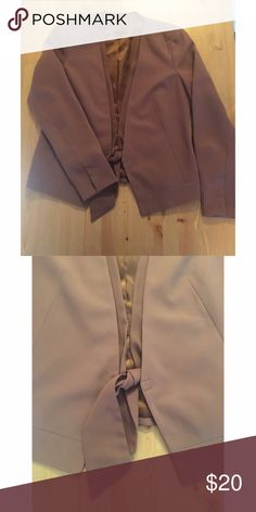 EUC Gap Tie Front Blazer So classic chic!  This gap blazer has a relaxed fit and is a lovely shade of taupe. Fully lined.  Hook and eye front closure. GAP Jackets & Coats Blazers