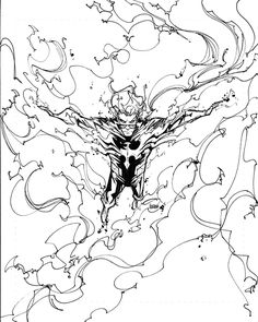 LINEART: Francisco Herrera (vía Battle of the Atom X-Men on Behance)
