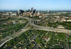aerial Houston Texas