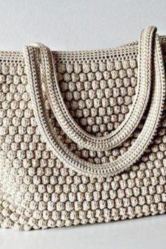 Diy Crafts - embroidery,learn-Best 9 close knit, embroidery, learn to knit videotutorial wirecrochet handembroidery Free Crochet Bag, Crochet Market Bag, Crochet Shell Stitch, Wire Crochet, Crochet Tote, Crochet Handbags, Crochet Purses, Bag Pattern Free, Pattern Ideas