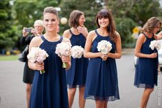 Navy bridesmaids. I can't believe I'm starting to like the idea of navy!
