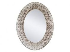 Espejo metal oval níquel